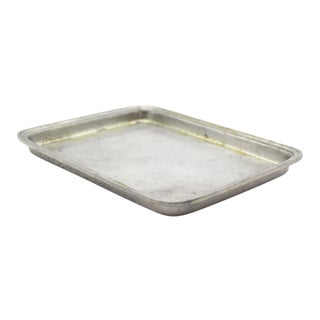 Match Italian Pewter Rectangular Tray For Sale