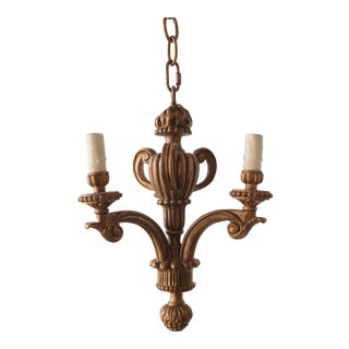 Vintage Giltwood Three-Light Chandelier
