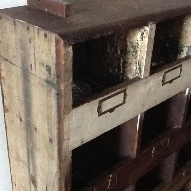 Vintage Industrial Wood Pigeon Hole Storage Shelves - Image 6 of 10