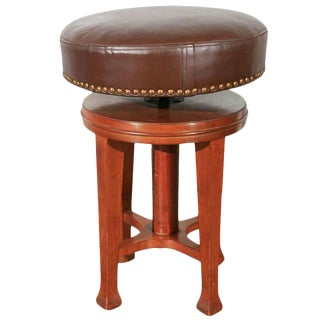 Deco Stool with Adjustable Seat For Sale