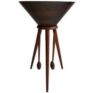 Danish Modern Sculptural Salad Bowl Stand & Salt N Pepper Shakers - 4 Pieces For Sale