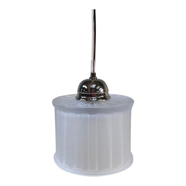 Minka-Laverty 1-Light Polished Nickel Mini Pendant Ceiling Light For Sale