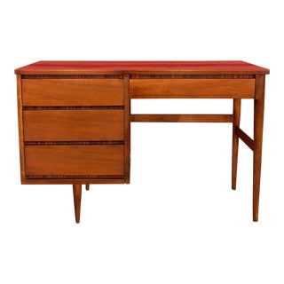 Mid Century Modern 4 Drawer Writing Desk For Sale