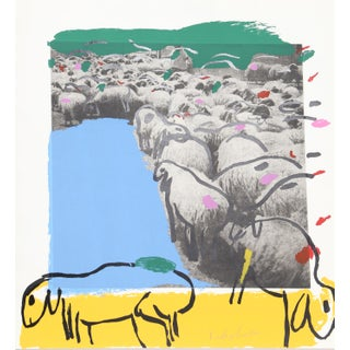 "Menashe Kadishman, ""Sheep 7"", Pop Art Animal Print"
