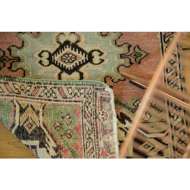 "Vintage Turkish Oushak Mat - 1'9"" x 2'10"" - Image 6 of 7"