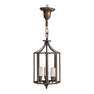Early 20th Century Ceiling Pendant Light in the Style of Josef Hoffmann For Sale