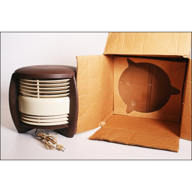 Mid Century Modern Hassock Stool Fan with Original Box For Sale - Image 10 of 11