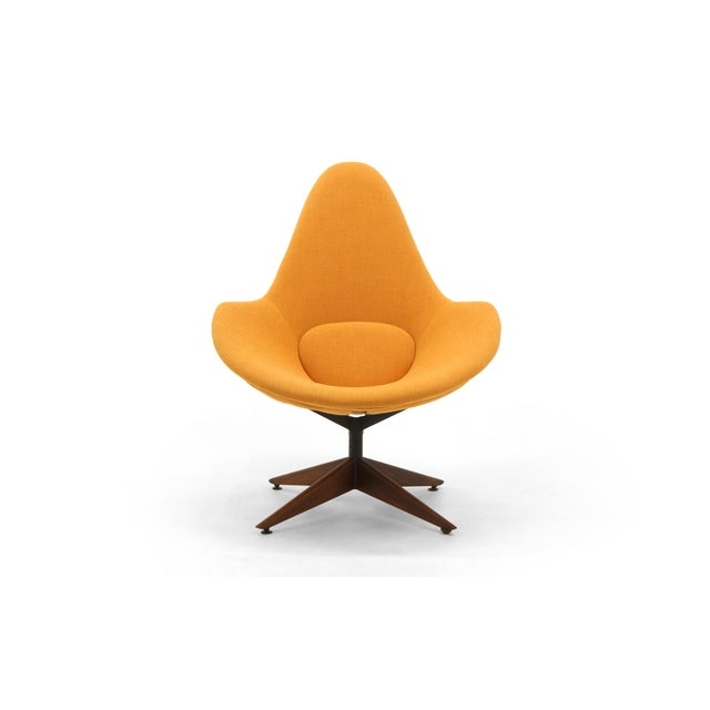 Adrian Pearsall Swivel Lounge Chair, Completely Restored, Very Rare For Sale - Image 11 of 11