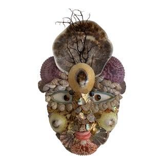 Commedia del Arté Brighella Renaissance Shell Wall Mask For Sale