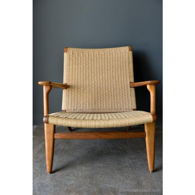 1950s 1950s Vintage Hans Wegner for Carl Hansen & Son Ch 25 Lounge Chair For Sale - Image 5 of 12
