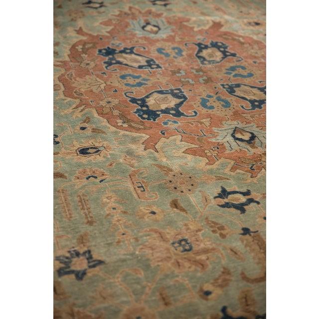 """Vintage Distressed Tabriz Carpet - 8'5"""" X 10'7"""" For Sale - Image 11 of 12"""