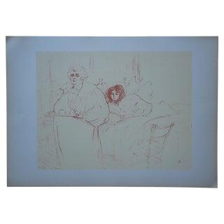 """Vintage Lithograph """"Elles [Women]"""" by Lautrec For Sale"""