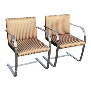 Flat Bar Chrome Chairs - A Pair For Sale