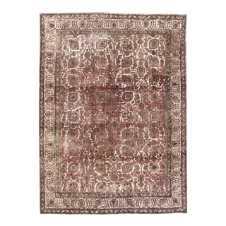 Late 20th Century Large Vintage Persian 12x15 Wool Rug For Sale