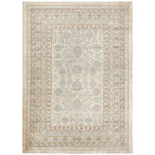 Pasargad Hand Knotted Khotan Wool Rug - 4′ × 6′