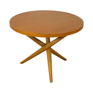 "t.h. Robsjohn Gibbings for Widdicomb 28"" Round Lamp Table For Sale"