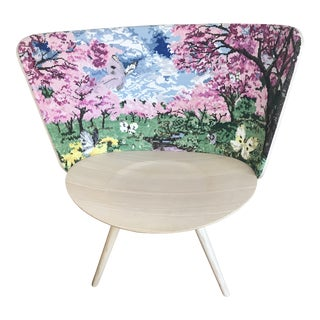 Cappellini Spring Ergonomic Shape in White Ash Embroidery Chair