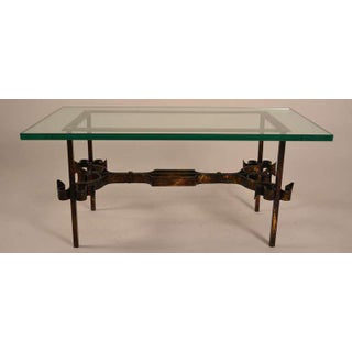 Wrought Iron Base Glass Top Table Preview