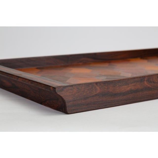 Trompe L'oeil Rosewood Tray by Don Shoemaker for Señal For Sale - Image 9 of 10
