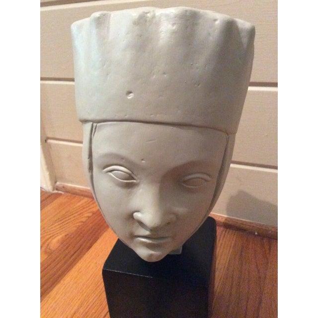 1960s Vintage Alva Studios Woman's Head Sculpture For Sale - Image 11 of 11