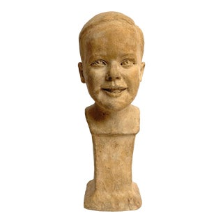 Bust of a Young Boy For Sale