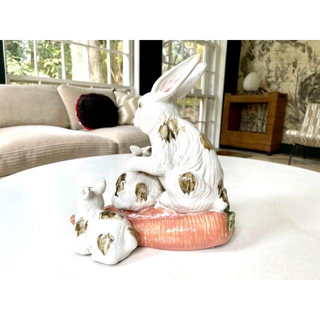 Vintage Provencal Ceramic Bunny Statue For Sale In Atlanta - Image 6 of 13