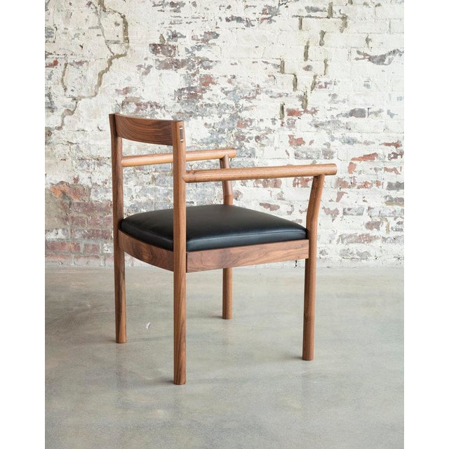 Contemporary Feast Armchair in Walnut For Sale - Image 3 of 5