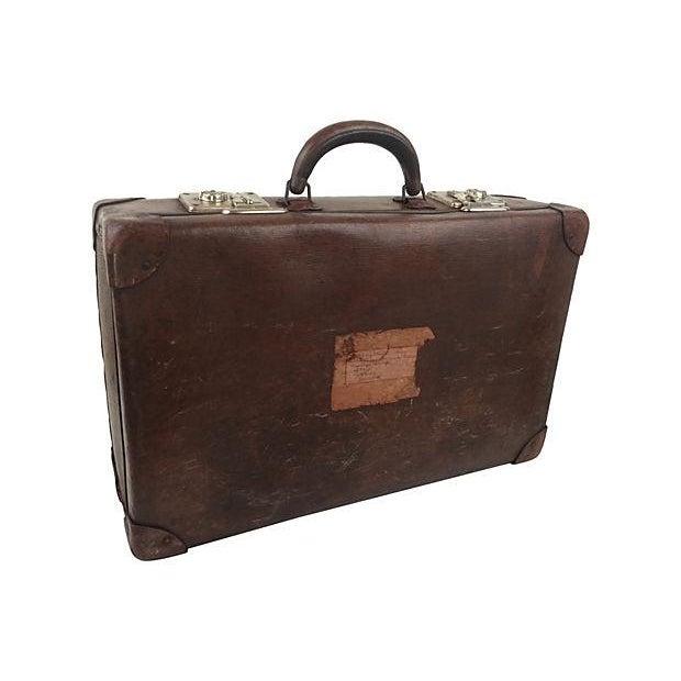Vintage Scottish Leather Suitcase - Image 1 of 3
