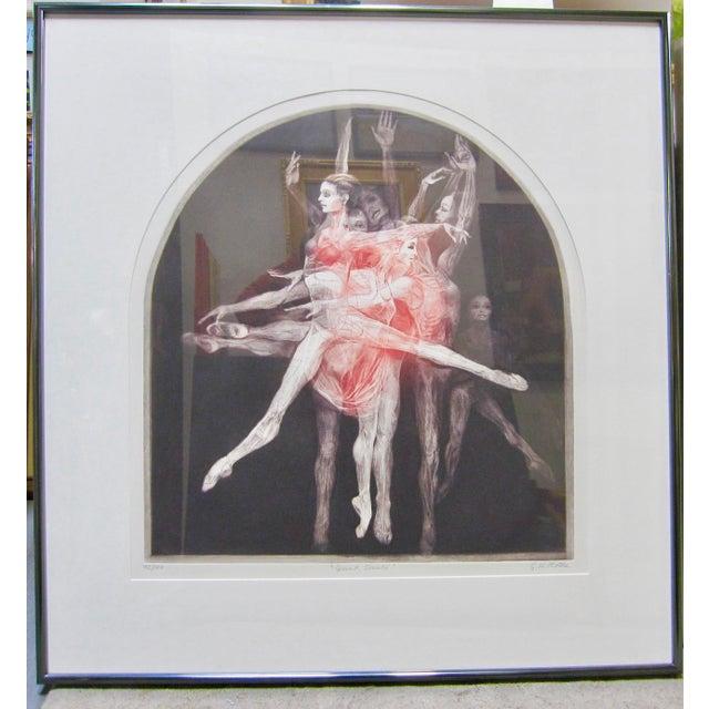 "1970s Vintage G. H. Rothe ""Grand Saute"" Signed Ballet Dancer Mezzotint Print For Sale - Image 9 of 9"