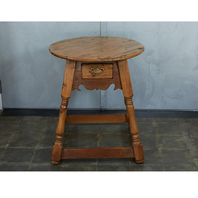 English Round Pine Table For Sale - Image 9 of 10