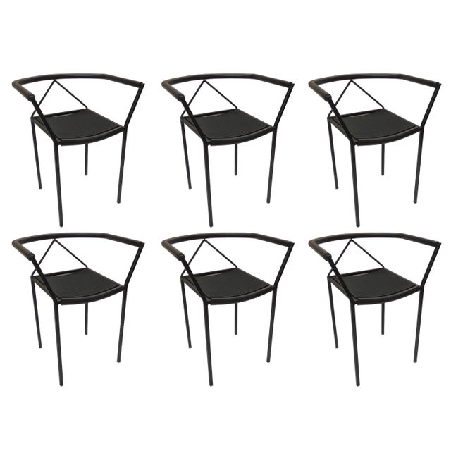 Maurizio Peregalli Poltroncina Armchairs Made in Italy by Zeus - Set of 6 For Sale - Image 11 of 11
