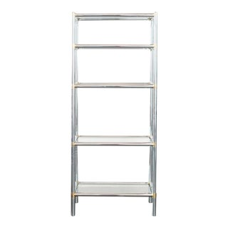 20th Century Modern Chrome and Glass Etagere For Sale