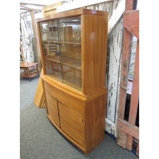 Mid Century Modern Danish Maple China Hutch Preview