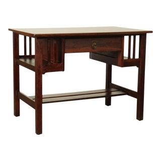 Stickley Brothers Antique Mission Oak Desk with Bookcase Sides For Sale