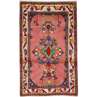 """Vintage Persian Mahal Rug – Size: 1' 8"""" X 2' 9"""" For Sale"""