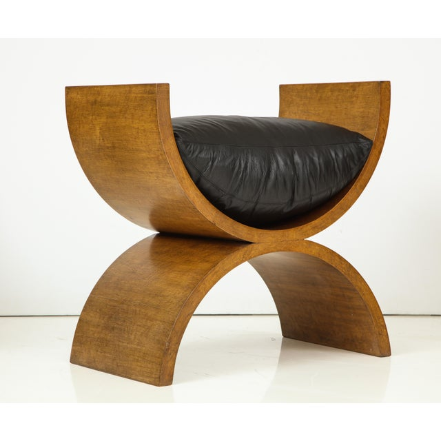 Animal Skin Curule Benches by Jay Spectre (Set of 4) For Sale - Image 7 of 13