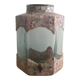 Hand Crafted Italian Mosaic Tile Drink Dispenser For Sale