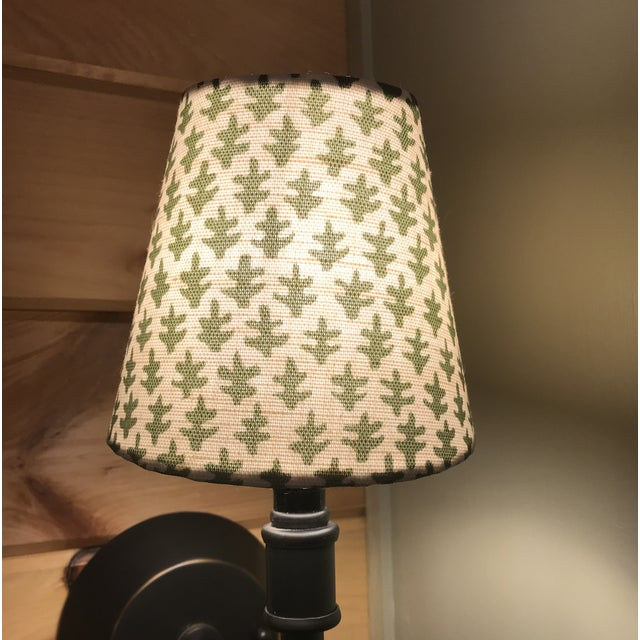 Traditional Fern Green Sconce or Chandelier Shade For Sale - Image 3 of 4