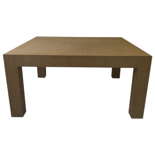 Woven Parsons Coffee Table For Sale