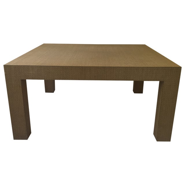 Woven Parsons Coffee Table Chairish