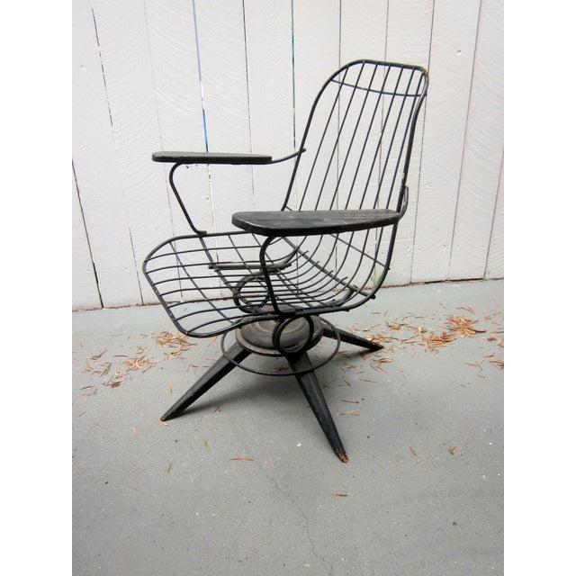 MCM Homecrest Eames Era Bertoia Style Wire Chair - Image 4 of 5