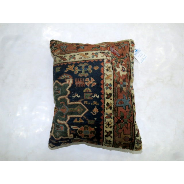 Antique Heriz Rug Pillow For Sale - Image 4 of 4