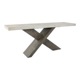 X Base Console Table For Sale