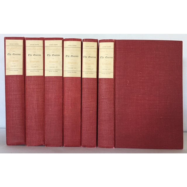 Early 20th Century Early 20th Century Decorative Ruby Red Volume Set, English Classics - 6 Books For Sale - Image 5 of 5