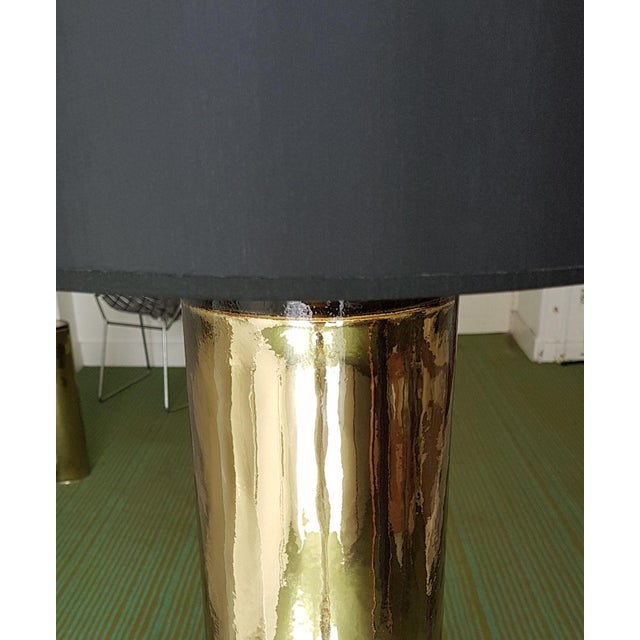 Fabric Gold Murano Glass Table Lamps, Mid Century Modern, Cenedese Style - a Pair For Sale - Image 7 of 10