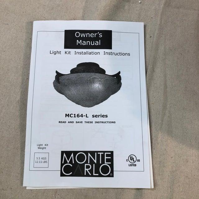 Monte Carlo Royal Danube 3-Light Roman Bronze Flush Mount For Sale - Image 12 of 13