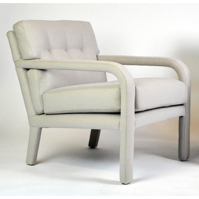 Mid-Century Modern Milo Baughman Fully Upholstered Armchairs - A Pair For Sale - Image 3 of 5