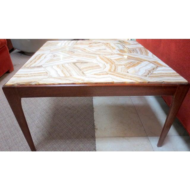 Ed Wormley Dunbar Travertine Coffee Table - Image 7 of 9
