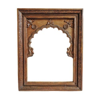Antique Raja Carved Mirror For Sale