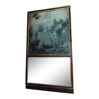 18th Century French Trumeau With Grisaille Painting For Sale